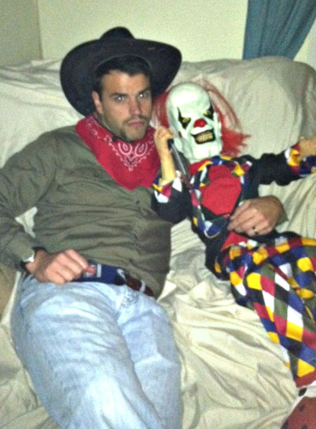 cowboy and clown